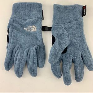 The North Face Blue Fleece Winter Gloves